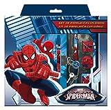 """Kit Diario Segreto + Set Cancelleria """"Ultimate Spiderman"""" Marvel - bambini compleanno regalini scuola"""