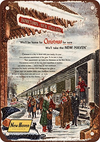 1953-de-new-haven-railroad-et-look-vintage-reproduction-de-noel-new-england-plaque-en-metal-203-x-30