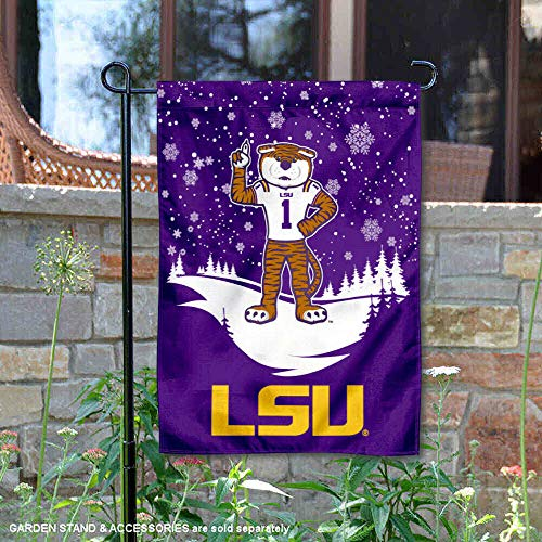 Louisiana State Tigers Schnee und Winter Garden Flagge und Banner Louisiana Tigers
