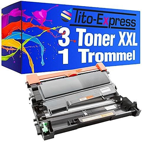 PlatinumSerie® Set Trommel & 3 Toner XXL kompatibel für Brother DR-2200 & TN-2220 Schwarz MFC-7360 NE MFC-7470 D MFC-7860 DN