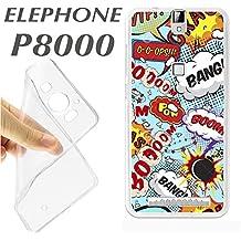 ELEPHONE P8000 P 8000 CARCASA FUNDA K192 DIBUJO COMIC VINETA COLORES DIVERTIDA
