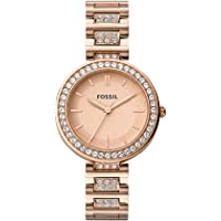 Fossil Analog Rose Gold Dial Women's Watch-BQ3181