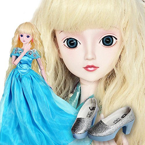Cinderella And Her Shoes 1/3 BJD Doll 60cm 24 inch Girl jointed dolls Toy Full Set Skirt + accessories + doll + shoes + gift