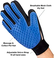 Pet grooming gloves dust removal brush gloves cat and dog massage tools(One pack)