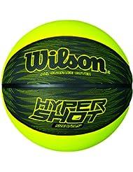 Wilson Hyper Shot i, Palla Basketball Unisex-Adulto, Nero/ Verde, 7