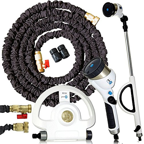 Morphy Richards Pure Rain Water Station Plus, Handheld Gun und Erreichen Plus mit Garten Sprinkler-System & 50FT (15.24m) Stretch Schlauch Pro Messing Beschläge (Gun-station)
