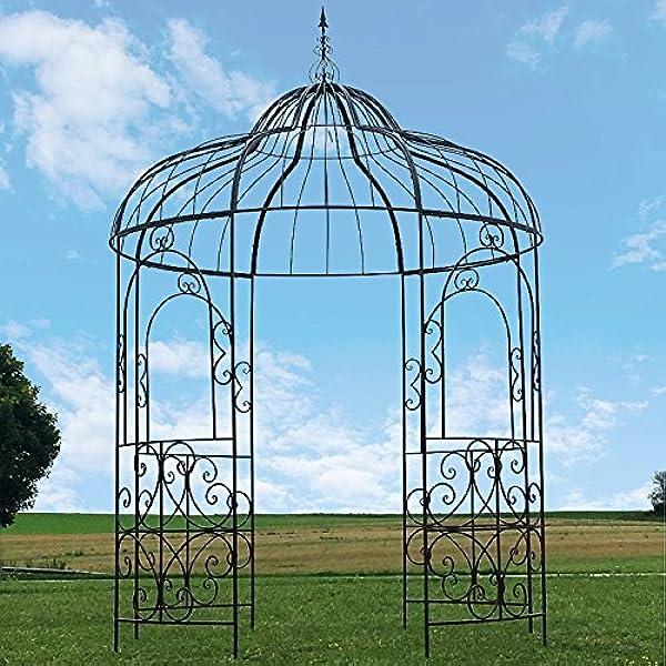 Gran carpa Gloriette – Pérgola (hierro Kiosko de jardín Ø215 ...
