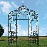 Große Pavillon Gloriette Pergola Eisen Garten-Pavillon Ø215cm