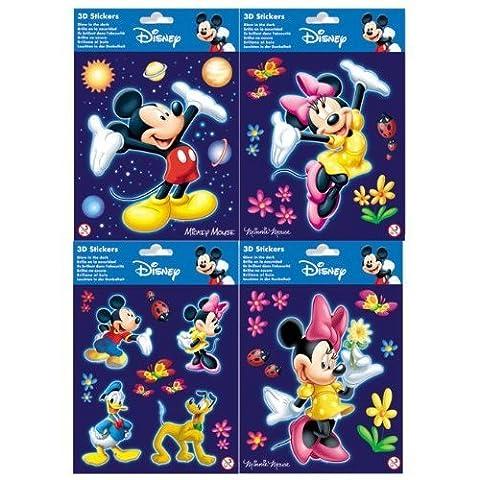 Disney Mickey Mouse Glow 3D Medium - 3 assorted styles