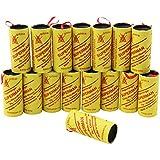 Com-Four® Rouleaux de papier tue-mouche –Piège à insectes, non toxique, écologique hygiénique (16pièces)