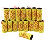 COM-FOUR ® 16 Flypaper rolls – insect trap – Non-Toxic, Environmentally Friendly, Hygienic (Pack of 16)