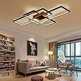 Jsz LED Dimmable Plafonnier Salon Lampe avec Télécommande Moderne Plafond Plafond Creative Métal Acrylique Design Plafond Lam
