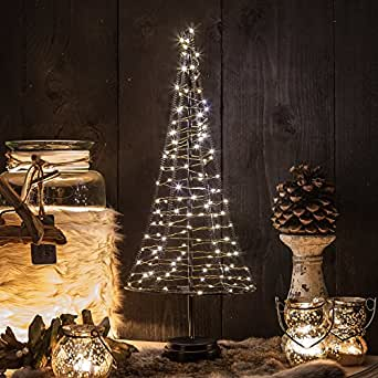 mini weihnachtsbaum pyramide 50 cm aus metall mit led. Black Bedroom Furniture Sets. Home Design Ideas