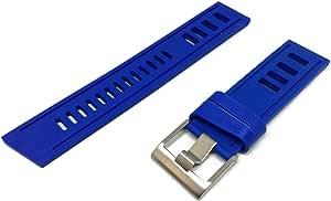 Cinturino per orologio da sub blu reale Scala stile vintage fibbia in acciaio inossidabile
