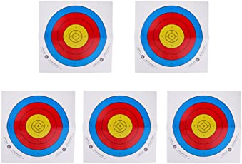 Generic 5pcs Replacement Archery Target Faces Heavy Gauge Paper for Recurve Bow