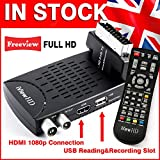 New FULL HD Scart Freeview HD Digital TV Receiver and HD 1080P USB Recorder Set Top HD DigiBox Tuner Terrestrial & USB Multi Media Player & 3 Step USB PVR Style Advanced Program Recorder . For UK Switchover Analogue To Digital TV Converter Box HDMI and SCART input DVB-T2 MPEG-4 by iView HD