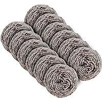 MR.SIGA éponge grattante en acier d'inoxydable, éponge à récurer - Lot de 12 pcs, poids de 30g