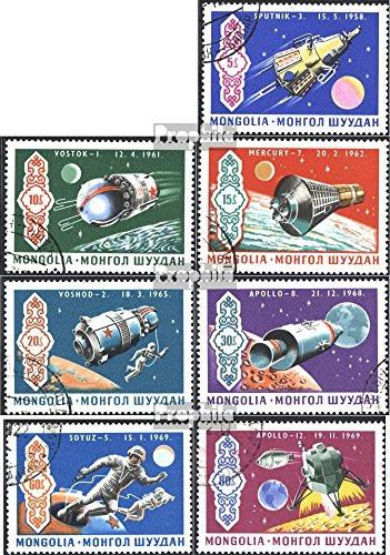 Prophila Collection Mongolei 570-576 (kompl.Ausg.) 1969 Apollo 12 (Briefmarken für Sammler) Weltraum