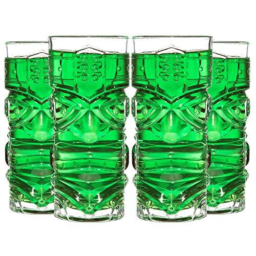 CKB Ltd® Pack of 4 TIKI Bar Cocktail Glasses Cocktailgläser Ideal für einen Cocktail Rum-Mischgetränk Mai Tai / Zombie Cocktails 4er SET