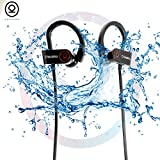 #10: CHKOKKO Mercury M2 bluetooth earphones wireless Headset Headphones with Bass, Secure Fit Bluetooth V4.1, Waterproof IPX 5 Technology, Latest Chipset CSR 8645 and CVC 6.0 Noise Cancellation With 8 Hrs Playtime Built in Mic Ergonomic Designed Ear Hooks, Black