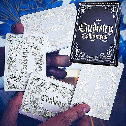 Mazzo di carte cardistry calligraphy - golden - mazzi di carte da gioco - giochi di prestigio e magia
