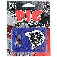 Pig Piles - Almohadillas elevadoras amortiguadoras para monopatín suaves, azul