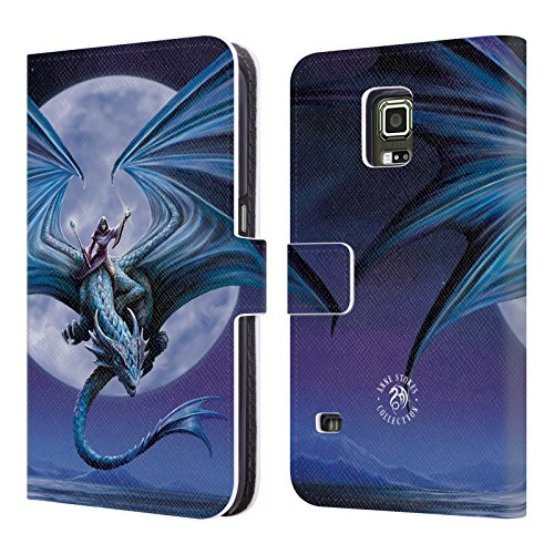 e1754f6df7c Official Anne Stokes Moonstone Dragons 3 Leather Book Wallet Case Cover  Compatible For Samsung Galaxy S5