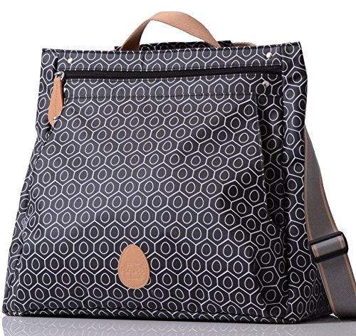 pacapod-lewis-black-tile-designer-baby-changing-bag-luxury-black-pattern-messenger-3-in-1-organising
