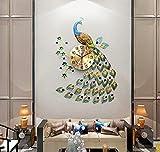 KHSKX-Der Pfau Uhr Uhr Das Wohnzimmer Moderne Und Kreative Persönlichkeit Art Deco Wanduhr Quarz - Uhr Stumm - Tabelle