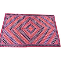 Mogul Interior Tapestry Decorative Hippie Pink Patchwork Wall Hanging