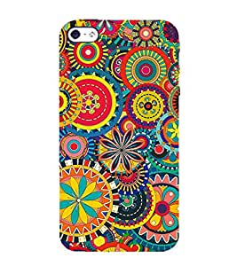Fiobs Designer Back Case Cover for Apple iPhone SE (Circular Circle Colorful Colourful )
