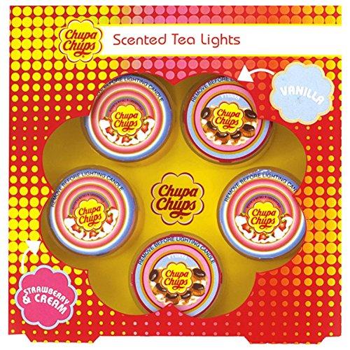 Preisvergleich Produktbild Offizielle Chupa Chups Duftkerzen Teelichter 5er-Set