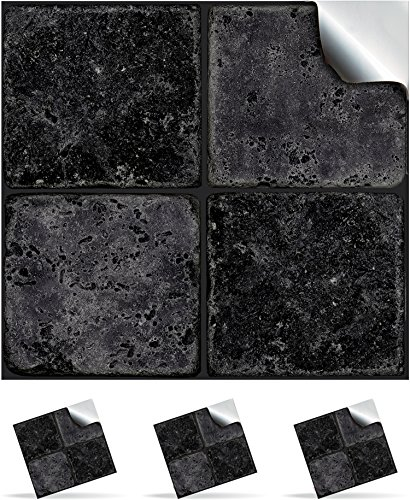 30-black-stone-self-adhesive-mosaic-wall-tile-decals-for-150mm-6-inch-square-tiles-ntp-08-realistic-