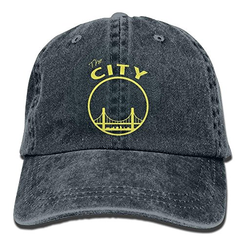 co The City Washed Retro Denim Hats Peaked Cap for Women and Men Adjustable Unique Personality Cap Baseballmütze ()