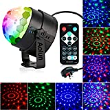 Disco Lights Sound Activated with Remote,Dj Lights,Strobe Light,Stage lights-7 Colors Rotating Magic LED Disco Ball Lights for Parties,Room,Pool,Club,Home,Church,Karaoke,KTV,Wedding, Halloween,Xmas