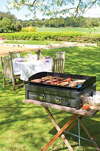 Large Plancha /à Rev/êtement Anti adh/ésif BBQ de Table 2 Br/ûleurs en Acier Campingaz Plancha Gaz L Grille Portable Puissance 7.5kW Cuisson Teppanyaki