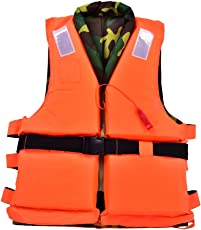 Dilwe Life Safety Jacket, PP Portable Comfortable Life Saving Vest Water Sports Vest for Swimming Boating