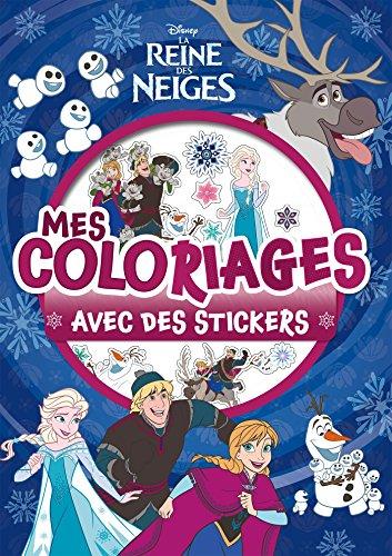 REINE DES NEIGES - Mes coloriages avec stickers