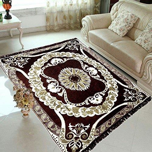 larsph's Ethnic Velvet Touch Abstract Chenille Carpet - 5 X 7 Feet,...