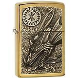 Zippo 2004837 Dragon W/ Amulette Emblème Briquet Laiton 3,5 x 1 x 5,5 cm