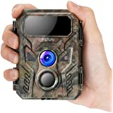 Victure Mini Wildlife Camera 16MP 1080P Upgraded Wildlife Night Vision Camera with Low Glow Infrared Technology and IP66 Waterproof Design for Wildlife Monitoring