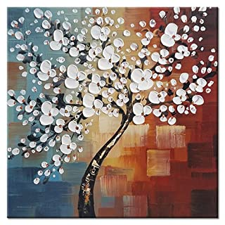 Wieco Art Morning Glory 100% Hand-painted Modern Abstract Artwork Oil Paintings on Canvas Floral Wall Art for Home Decorations Wall Decor UK-FL1089-6060