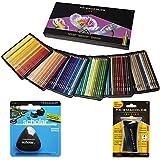 Crayons colorés Prismacolor, boîte de 150couleurs assorties, crayon scolaire triangulaire, gomme et taille-crayons