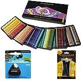Buntstifte von Prismacolor, Box mit 150verschiedene Farben, dreieckiger Radierer und Premium-Anspitzer