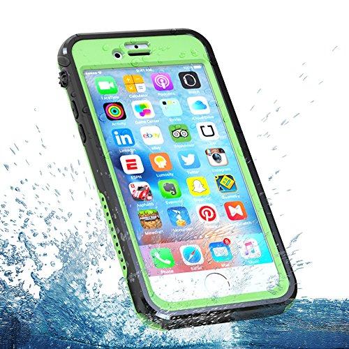 iPhone 6s 4.7 inch Wasserdichte Hülle, FindaGift IP68 Outdoor Handyhülle Full Sealed Tasche Case Ultra dünn Full Body Staubdicht Stoßfest Schneedicht Anti-Kratzer Underwater Schutzhülle mit Displaysch Gras-Grün