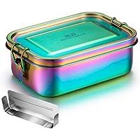 G.a HOMEFAVOR 800ML Boîte à Bento avec Séparateur Amovible Boîtes-Repas en Acier Inoxydable Boîte à Lunch en Métal Boite…