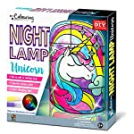 C.S. Kids Unicorn DIY Bedside Table Lamp, Night Light for Kids | Decorate Your Own Unicorn Light, Stained-Glass, Colour Changing LED Mood Light