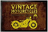 1art1 102383 Motorradsport - Vintage Motorcycles Service and Repair Fuß-/Türmatte, Polyamid/PVC, Bunt, 60 x 40 x 0.5 cm