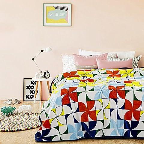 BDUK La manta gruesa de aire acondicionado en verano y office siesta coral cubrecamas manta toalla mantas dobles ,200x230cm, 7 molino Multimedia