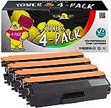 Yellow Yeti 4er Pack TN326 TN-326 Premium Toner kompatibel für Brother HL-L8250CDN HL-L8350CDW DCP-L8400CDN, DCP-L8450CDW MFC-L8600CDW MFC-L8650CDW MFC-L8850CDW HL-L8250CDW HL-L8350CDWT [3 Jahre Garantie]